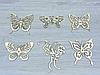 Декоративна дерев'яна фігурка метелик з фанери (форма №2) (2249), фото 2