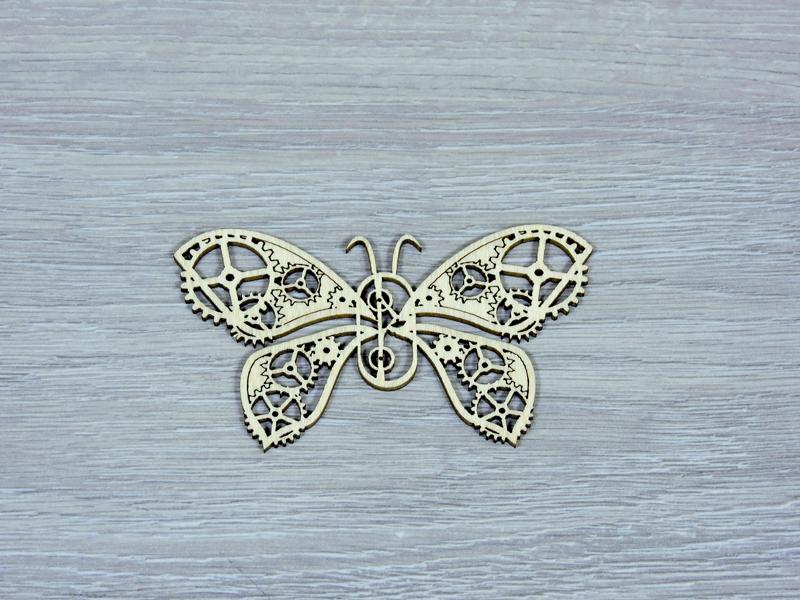 Декоративна дерев'яна фігурка метелик з фанери (форма №2) (2249)