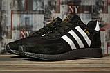 Кроссовки мужские 16863, Adidas Iniki, черные, [ 44 46 ] р. 44-27,6см., фото 2