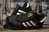 Кроссовки мужские 16863, Adidas Iniki, черные, [ 44 46 ] р. 44-27,6см., фото 3