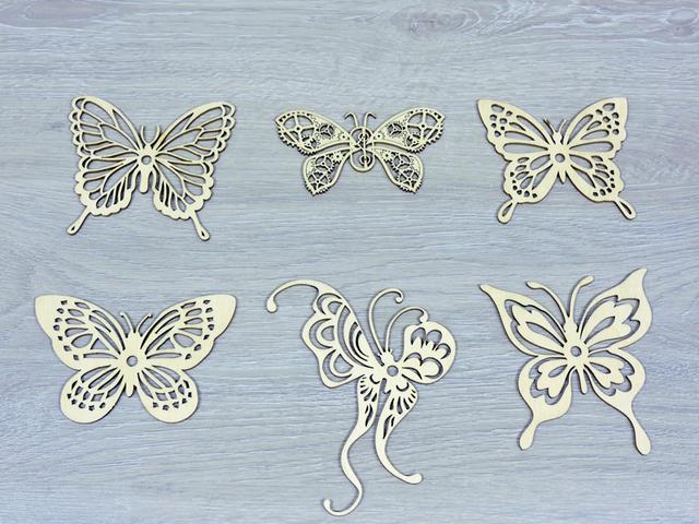 Декор з фанери метелик