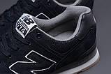 Кроссовки мужские 18033, New Balance  574, темно-синие, [ 41 42 43 44 45 46 ] р. 41-26,5см., фото 5