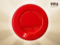 Крышка-поилка на стакан бумажный 360 мл красная