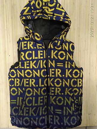 Безрукавка двостороння для підлітка  хакі Glo-Story 158/164, фото 2
