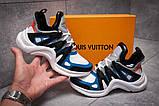 Кроссовки женские 13454, Louis Vuitton Archlight, темно-синие, [ 37 38 ] р. 37-23,8см., фото 2