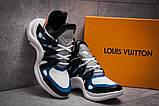 Кроссовки женские 13454, Louis Vuitton Archlight, темно-синие, [ 37 38 ] р. 37-23,8см., фото 3