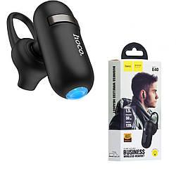 Bluetooth гарнитура HOCO E40 беспроводная гарнитура с батареей 50mAh для 3.5ч музыки / звонков, черный