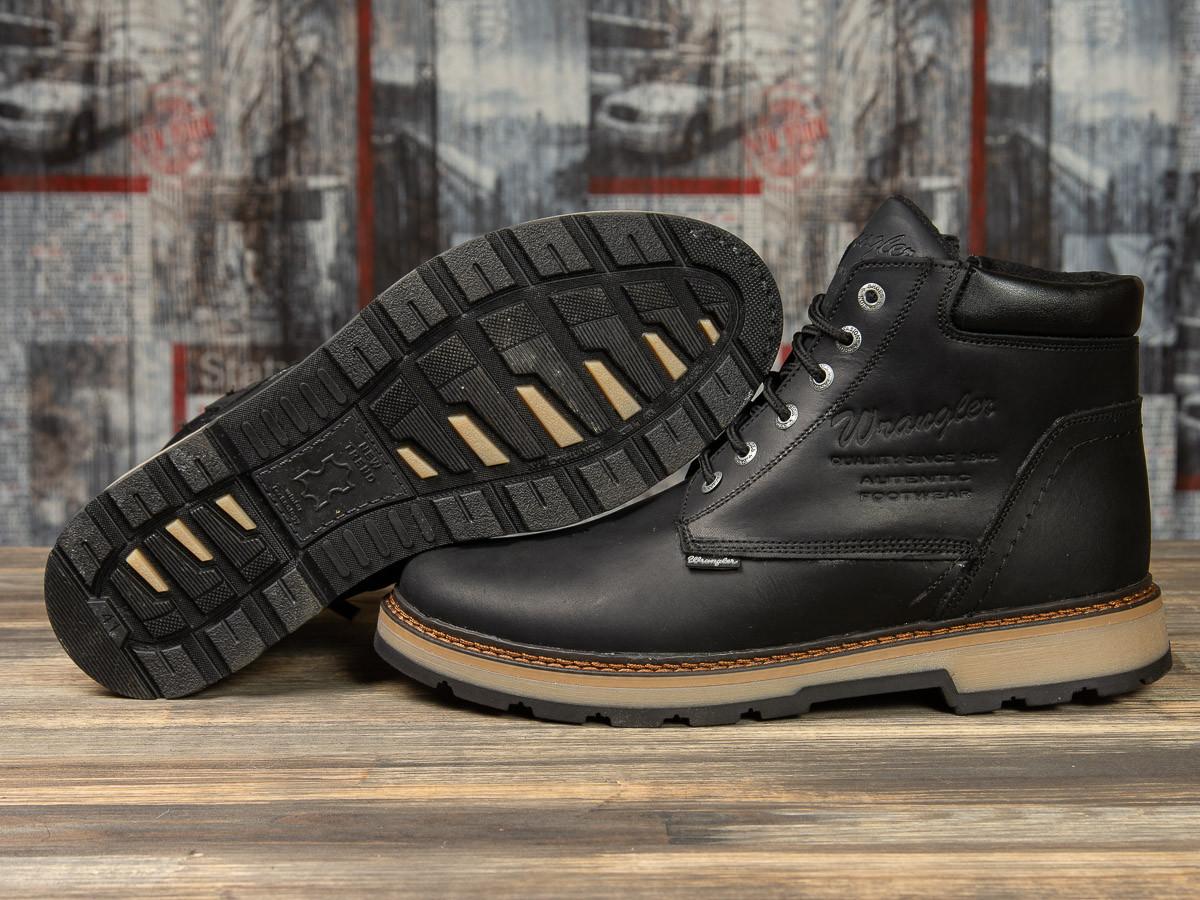 Зимние мужские ботинки 31091, Wrangler New Trendf, черные, [ 40 ] р. 40-26,5см.