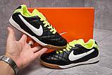 Кроссовки мужские 13953, Nike Tiempo, черные, [ 38 ] р. 38-23,4см., фото 2
