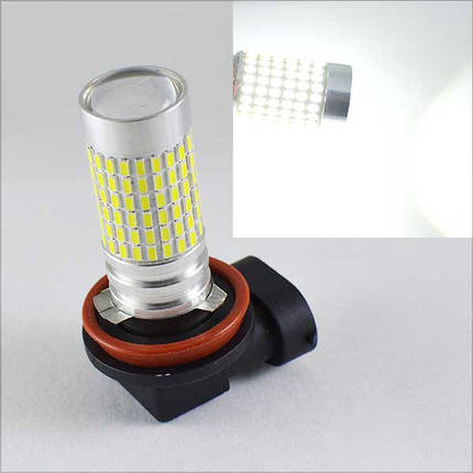 Автомобильная лампа в Противотуманный фонарь SLP LED 144-3014 SMD, цоколь H11/H8/H9 Белый, фото 2