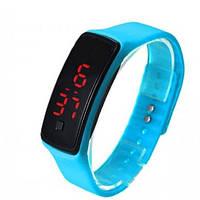 Наручные LED часы браслет DSC 612 Синие