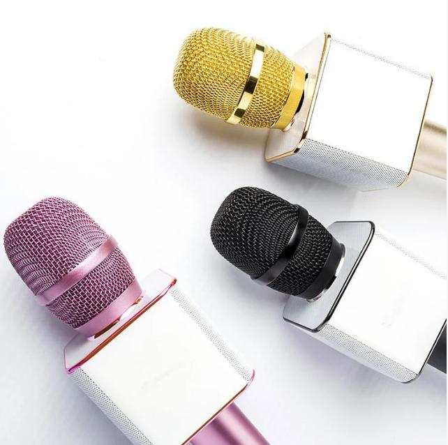 Портативный микрофон-колонка bluetooth Q9, совместим с Android и Apple iOs, имеет USB разъем (3 цвета)