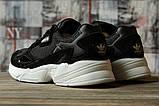 Кроссовки женские 16741, Adidas Falcon, черные, [ 40 ] р. 40-25,5см., фото 4