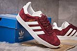 Кроссовки женские 15064, Adidas Gazelle, бордовые, [ 36 ] р. 36-22,5см., фото 5