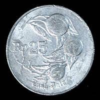 Монета Индонезии 25 рупий 1995 г., фото 1