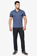 Фірмова футболка поло чоловіча колір джинс модель 6422 розмір 48 (M), фото 2
