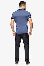 Фірмова футболка поло чоловіча колір джинс модель 6422 розмір 48 (M), фото 3