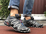 Кроссовки для бега Salomon Speedcross 3, Саломон, серые, фото 3