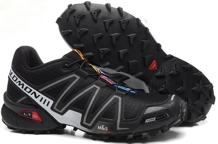 Кроссовки для бега Salomon Speedcross 3, Саломон, черные с серым