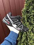 Кроссовки для бега Salomon Speedcross 3, Саломон, черные с серым, фото 2