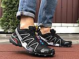 Кроссовки для бега Salomon Speedcross 3, Саломон, черные с серым, фото 3