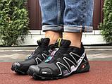 Кроссовки для бега Salomon Speedcross 3, Саломон, черные с серым, фото 4