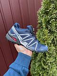 Кроссовки для бега Salomon Speedcross 3, Саломон, темно синие, фото 2
