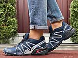 Кроссовки для бега Salomon Speedcross 3, Саломон, темно синие, фото 3