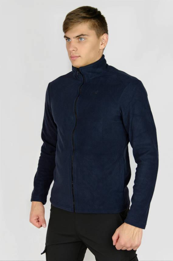 Мужская кофта флисовая на молнии синяя Intruder, фото 2