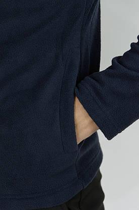 Мужская кофта флисовая на молнии синяя Intruder, фото 3