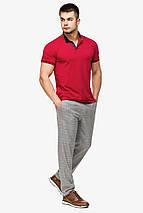 Мужская легкая футболка поло красного цвета модель 6422, фото 2