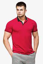 Мужская легкая футболка поло красного цвета модель 6422, фото 3
