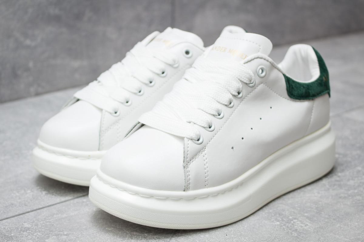 Кроссовки женские 14753, Alexander McQueen Oversized Sneakers, белые, [ 37 ] р. 37-22,6см.