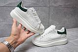 Кроссовки женские 14753, Alexander McQueen Oversized Sneakers, белые, [ 37 ] р. 37-22,6см., фото 2