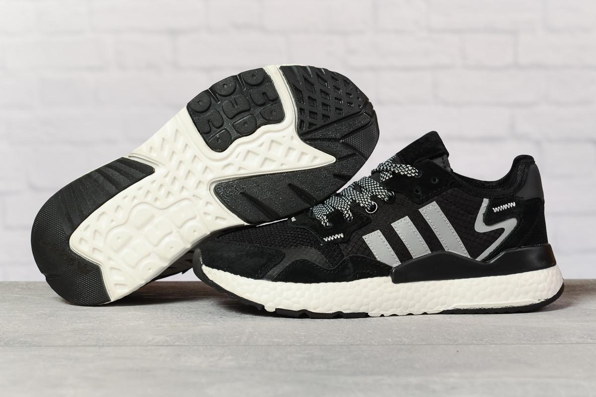 Кроссовки женские 17311, Adidas 3M, черные, [ 36 37 38 39 40 41 ] р. 36-22,3см.