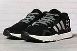 Кроссовки женские 17311, Adidas 3M, черные, [ 36 37 38 39 40 41 ] р. 36-22,3см., фото 2