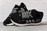 Кроссовки женские 17311, Adidas 3M, черные, [ 36 37 38 39 40 41 ] р. 36-22,3см., фото 3