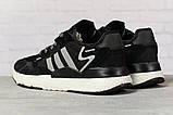 Кроссовки женские 17311, Adidas 3M, черные, [ 36 37 38 39 40 41 ] р. 36-22,3см., фото 4