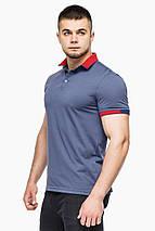 Фабрична футболка поло чоловіча колір джинс модель 6618 розмір 56 (3XL), фото 3