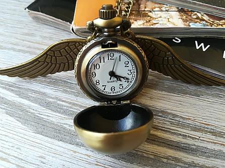 Часы Кулон Снитч Гарри Поттер harry potter бронзовый, фото 2