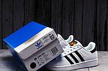 Кроссовки женские 17821, Adidas Superstar, белые, [ 36 39 ] р. 36-23,0см., фото 3