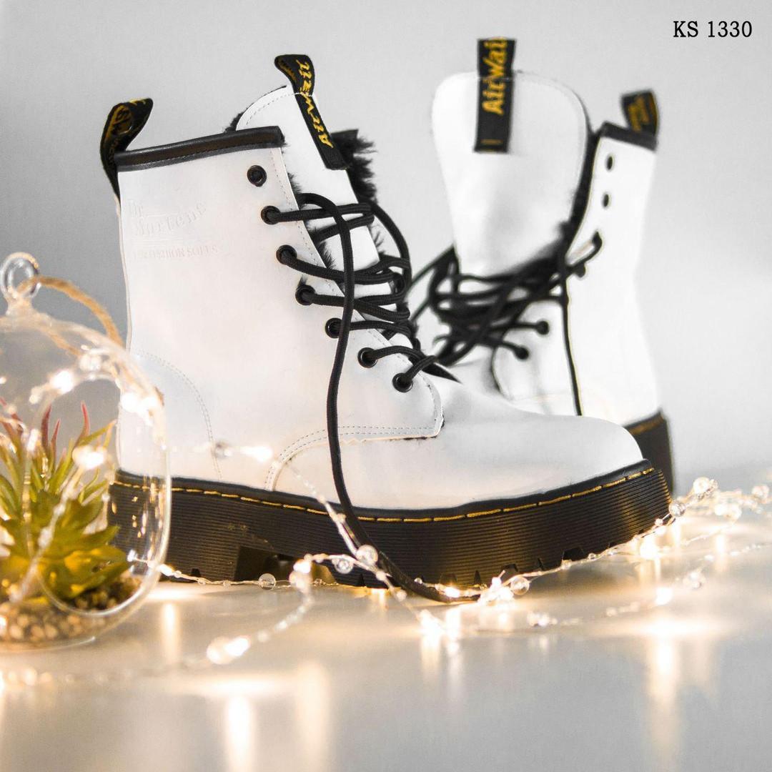 Женские зимние ботинки Dr.Martens Jadon Classic (белые) KS 1330