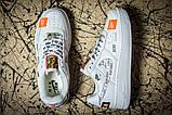 Кроссовки женские 17611, Nike Air  AF-1, белые, [ 36 37 41 ] р. 36-23,5см., фото 2
