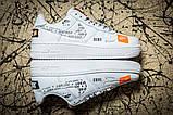 Кроссовки женские 17611, Nike Air  AF-1, белые, [ 36 37 41 ] р. 36-23,5см., фото 3