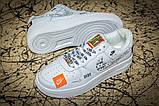 Кроссовки женские 17611, Nike Air  AF-1, белые, [ 36 37 41 ] р. 36-23,5см., фото 5