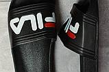 Шлепанцы мужские 17371, Fila, черные, [ 41 42 43 44 ] р. 41-26,0см., фото 5