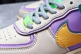 Кроссовки женские 20022, Nike Air Force 1, бежевые, [ 36 37 ] р. 36-22,5см., фото 8