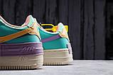 Кроссовки женские 20022, Nike Air Force 1, бежевые, [ 36 37 ] р. 36-22,5см., фото 10
