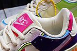 Кроссовки женские 20031, Nike Air Force 1, бежевые, [ 36 37 38 ] р. 36-22,5см., фото 7