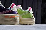 Кроссовки женские 20031, Nike Air Force 1, бежевые, [ 36 37 38 ] р. 36-22,5см., фото 8
